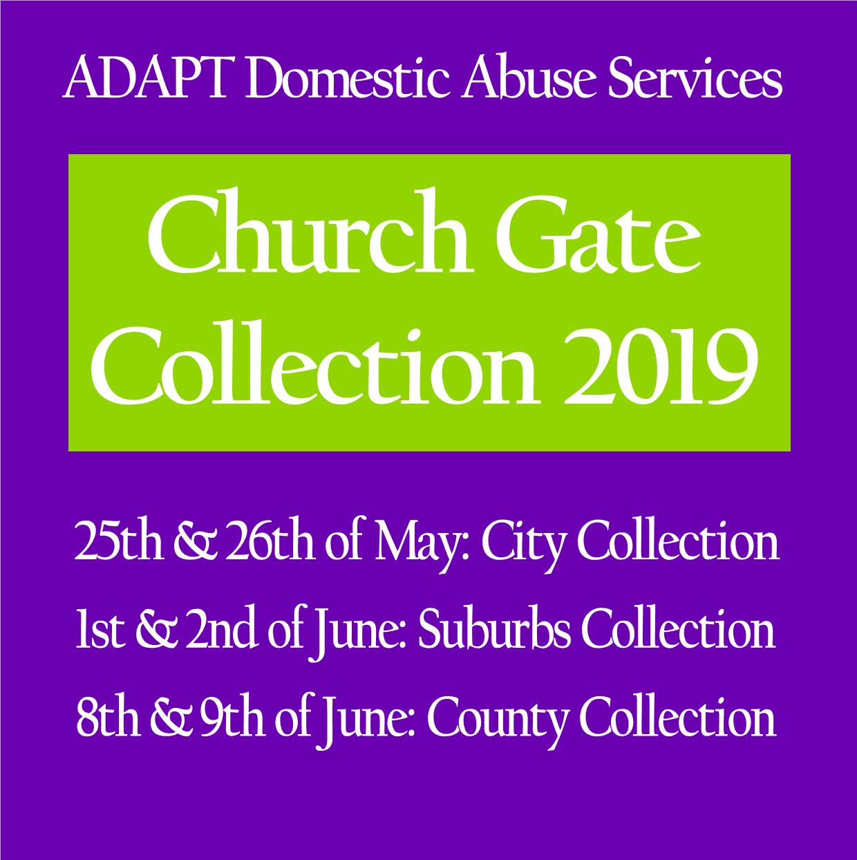 ADAPT Church Gate Collection 2019 Schedule