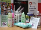 The Pamper Packs gave women in the area a treat as well as providing them with information about domestic abuse and the services available.